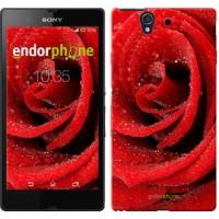 Чехол для Sony Xperia Z C6602 Красная роза 529m-40