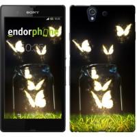 Чехол для Sony Xperia Z C6602 Светящиеся бабочки 2983m-40