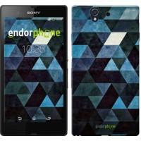 Чехол для Sony Xperia Z C6602 Треугольники 2859m-40