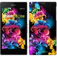 Чехол на Sony Xperia Z1 C6902 Абстрактные цветы 511c-38