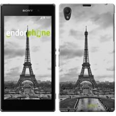 Чехол на Sony Xperia Z1 C6902 Чёрно-белая Эйфелева башня 842c-38