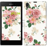 Чехол на Sony Xperia Z1 C6902 цветочные обои v1 2293c-38