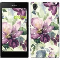 Чехол на Sony Xperia Z1 C6902 Цветы акварелью 2237c-38