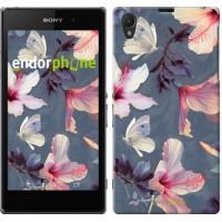 Чехол на Sony Xperia Z1 C6902 Нарисованные цветы 2714c-38