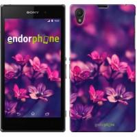 Чехол на Sony Xperia Z1 C6902 Пурпурные цветы 2719c-38