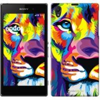 Чехол на Sony Xperia Z1 C6902 Разноцветный лев 2713c-38