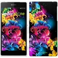 Чехол для Sony Xperia Z2 D6502/D6503 Абстрактные цветы 511c-43