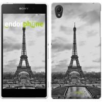 Чехол для Sony Xperia Z2 D6502/D6503 Чёрно-белая Эйфелева башня 842c-43