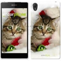Чехол для Sony Xperia Z2 D6502/D6503 Новогодний котёнок в шапке 494c-43