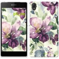 Чехол для Sony Xperia Z2 D6502/D6503 Цветы акварелью 2237c-43