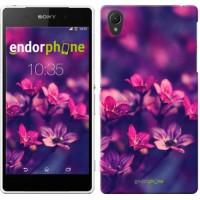 Чехол для Sony Xperia Z2 D6502/D6503 Пурпурные цветы 2719c-43