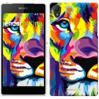 Чехол для Sony Xperia Z2 D6502/D6503 Разноцветный лев 2713c-43