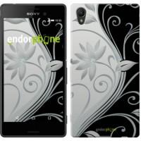 Чехол для Sony Xperia Z3+ Dual E6533 Цветы на чёрно-белом фоне 840u-165