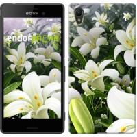 Чехол для Sony Xperia Z3+ Dual E6533 Белые лилии 2686u-165