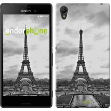 Чехол для Sony Xperia Z3+ Dual E6533 Чёрно-белая Эйфелева башня 842u-165