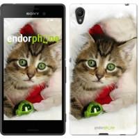 Чехол для Sony Xperia Z3+ Dual E6533 Новогодний котёнок в шапке 494u-165