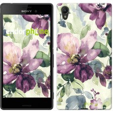 Чехол для Sony Xperia Z3+ Dual E6533 Цветы акварелью 2237u-165