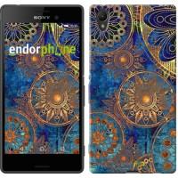 Чехол для Sony Xperia Z3+ Dual E6533 Золотой узор 678u-165