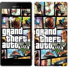Чехол для Sony Xperia Z3+ Dual E6533 GTA 5. Collage 630u-165