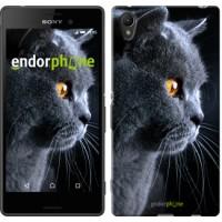 Чехол для Sony Xperia Z3+ Dual E6533 Красивый кот 3038u-165