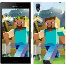 Чехол для Sony Xperia Z3+ Dual E6533 Minecraft 4 2944u-165