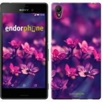 Чехол для Sony Xperia Z3+ Dual E6533 Пурпурные цветы 2719u-165