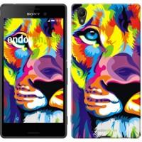 Чехол для Sony Xperia Z3+ Dual E6533 Разноцветный лев 2713u-165