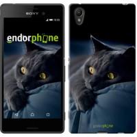 Чехол для Sony Xperia Z3+ Dual E6533 Дымчатый кот 825u-165