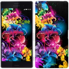 Чехол для Sony Xperia Z3 D6603 Абстрактные цветы 511c-58