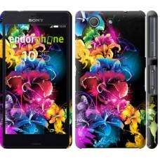 Чехол для Sony Xperia Z3 Compact D5803 Абстрактные цветы 511c-277