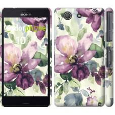 Чехол для Sony Xperia Z3 Compact D5803 Цветы акварелью 2237c-277