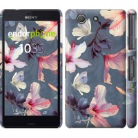 Чехол для Sony Xperia Z3 Compact D5803 Нарисованные цветы 2714c-277