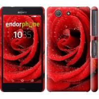 Чехол для Sony Xperia Z3 Compact D5803 Красная роза 529c-277