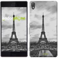 Чехол для Sony Xperia Z3 D6603 Чёрно-белая Эйфелева башня 842c-58