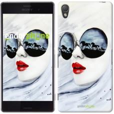 Чехол для Sony Xperia Z3 D6603 Девушка акварелью 2829c-58