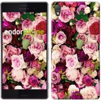 Чехол для Sony Xperia Z3 D6603 Розы и пионы 2875c-58
