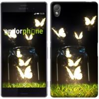 Чехол для Sony Xperia Z3 D6603 Светящиеся бабочки 2983c-58