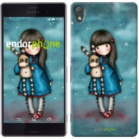 Чехол для Sony Xperia Z3 dual D6633 Девочка с зайчиком 915c-59