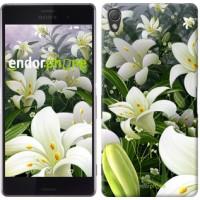 Чехол для Sony Xperia Z3 dual D6633 Белые лилии 2686c-59