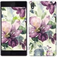 Чехол для Sony Xperia Z3 dual D6633 Цветы акварелью 2237c-59