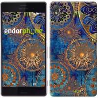 Чехол для Sony Xperia Z3 dual D6633 Золотой узор 678c-59