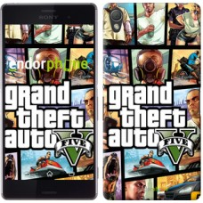 Чехол для Sony Xperia Z3 dual D6633 GTA 5. Collage 630c-59