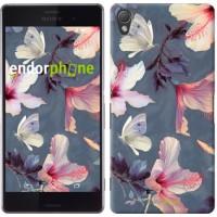 Чехол для Sony Xperia Z3 dual D6633 Нарисованные цветы 2714c-59