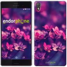 Чехол для Sony Xperia Z3 dual D6633 Пурпурные цветы 2719c-59