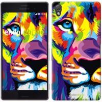 Чехол для Sony Xperia Z3 dual D6633 Разноцветный лев 2713c-59
