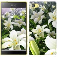 Чехол для Sony Xperia Z5 Compact E5823 Белые лилии 2686c-322