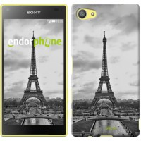 Чехол для Sony Xperia Z5 Compact E5823 Чёрно-белая Эйфелева башня 842c-322