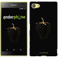 Чехол для Sony Xperia Z5 Compact E5823 Черная клубника 3585c-322