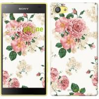 Чехол для Sony Xperia Z5 Compact E5823 цветочные обои v1 2293c-322