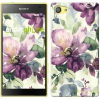 Чехол для Sony Xperia Z5 Compact E5823 Цветы акварелью 2237c-322